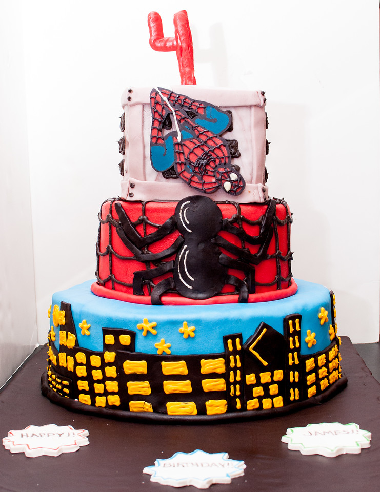 Spiderman, Spiderman Birthday Cake, Birthday Cake, Tiered Cake, Spider,
